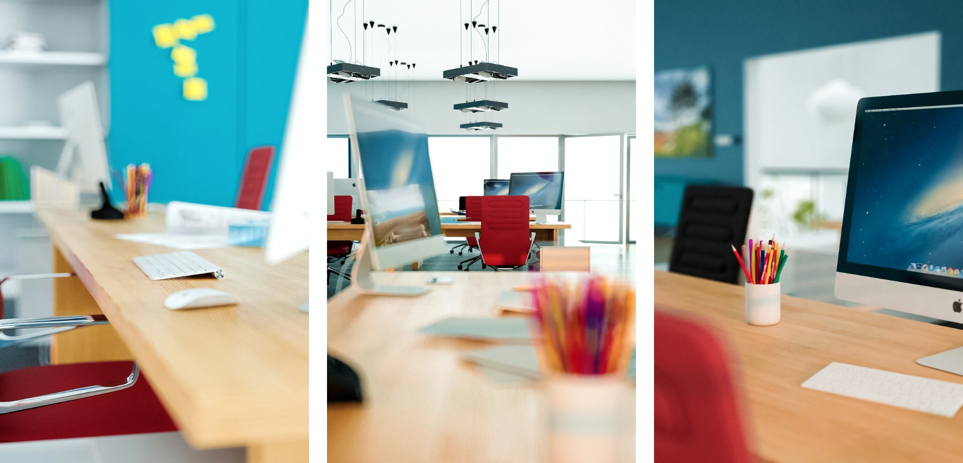 Wizualizacja architektoniczna – Biuro detale